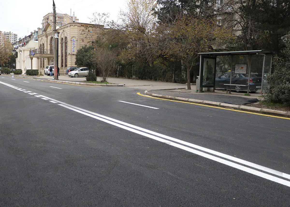 Paytaxtda daha bir küçə təmir olunub (FOTO/VİDEO)
