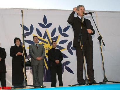 "Партия ""Ени Азербайджан"" провела митинг в связи с победой  на парламентских выборах"