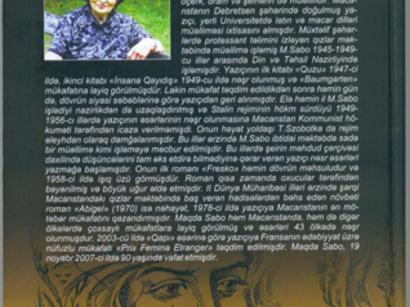 Рамиль Сафаров перевел роман венгерской писательницы на азербайджанский язык