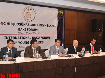 Gənc Hüquqşunasların Beynəlxalq Bakı Forumu keçirilib (FOTO)