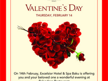 Excelsior Hotel Baku To Host Special Program On St. Valentineu0027s Day