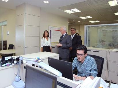Первая леди Азербайджана Мехрибан Алиева ознакомилась с условиями, созданными в офисе операционного комитета Европейских игр (ФОТО)