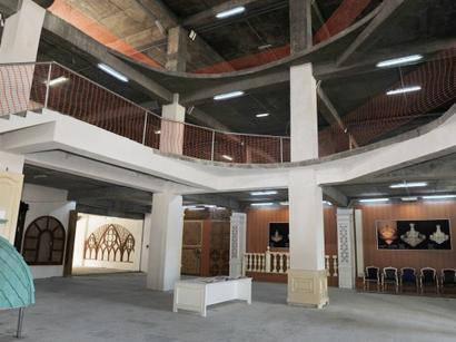Azerbaijani president reviews progress of construction at Ganja State Philharmonic (PHOTO)